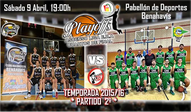 PREVIA PLAYOFFS | 1a Nacional 2015/16 | Partido 2º | CB Benahavís Costa del Sol vs Náutico Sevilla