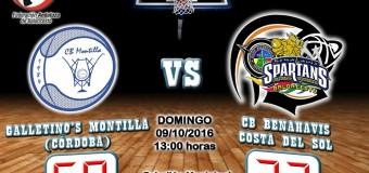 CRÓNICA J 2ª| 1a Nacional 2016/17 | Galletino's Montilla (Córdoba) vs CB Benahavís Costa del Sol
