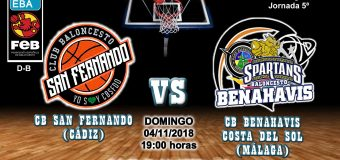 PREVIA EBA D-B | J 5ª . 2018/19 | CB San Fernando (Cádiz) vs CB Benahavís Costa del Sol