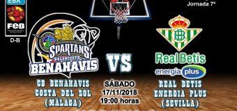 PREVIA | EBA (D-B) 18/19 | J-7ª > CB Benahavís Costa del Sol vs Real Betis Energia Plus (Sevilla)