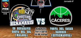 PREVIA | EBA (D-B) 18/19 | J-6ª > CB Benahavís Costa del Sol vs Torta del Casar Extremadura