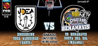 PREVIA | EBA (D-B) 18/19 | J-8ª > EnerDrink UDEA Algeciras (Cádiz) vs CB Benahavís Costa del Sol