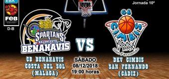 PREVIA | EBA (D-B) 18/19 | J-10ª > CB Benahavís Costa del Sol vs DKV Cimbis San Fernando (Cádiz)