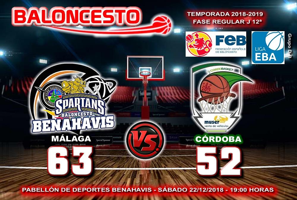 CRÓNICA | EBA (D-B) 18/19 | J-12ª > CB Benahavís Costa del Sol vs Muser Auto Cordobasket (Córdoba)