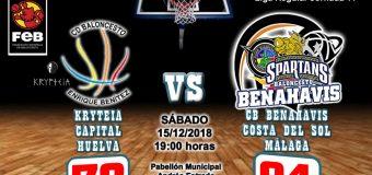 CRONICA | EBA (D-B) 18/19 | J-11ª > Krypteia Capital Huelva vs CB Benahavís Costa del Sol