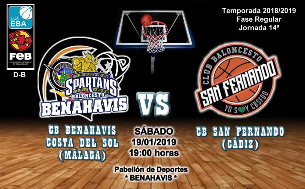 PREVIA | EBA (D-B) 18/19 | J-14ª > CB Benahavís Costa del Sol vs CB San Fernando (Cádiz)