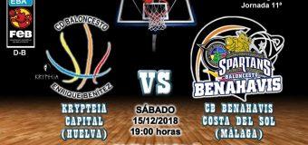 PREVIA | EBA (D-B) 18/19 | J-11ª > Krypteia Capital Huelva vs CB Benahavís Costa del Sol