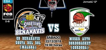 PREVIA | EBA (D-B) 18/19 | J-12ª > CB Benahavís Costa del Sol vs Muser Auto Cordobasket (Córdoba)