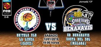 PREVIA | EBA (D-B) 18/19 | J-13ª > OH!TELS ULB La Línea (Cádiz) vs CB Benahavís Costa del Sol