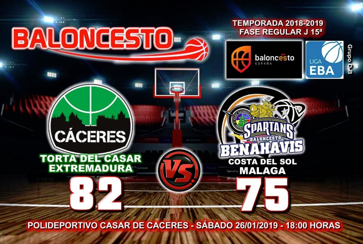 CRÓNICA  EBA (D-B) 18/19   J-15ª > Torta del Casar Extremadura vs CB Benahavís Costa del Sol