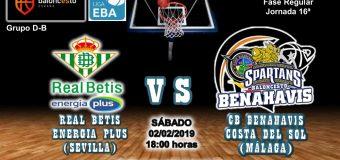 PREVIA | EBA (D-B) 18/19 | J-16ª > Real Betis Enegía Plus vs CB Benahavís Costa del Sol