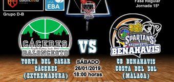 PREVIA   EBA (D-B) 18/19   J-15ª > Torta del Casar Extremadura vs CB Benahavís Costa del Sol