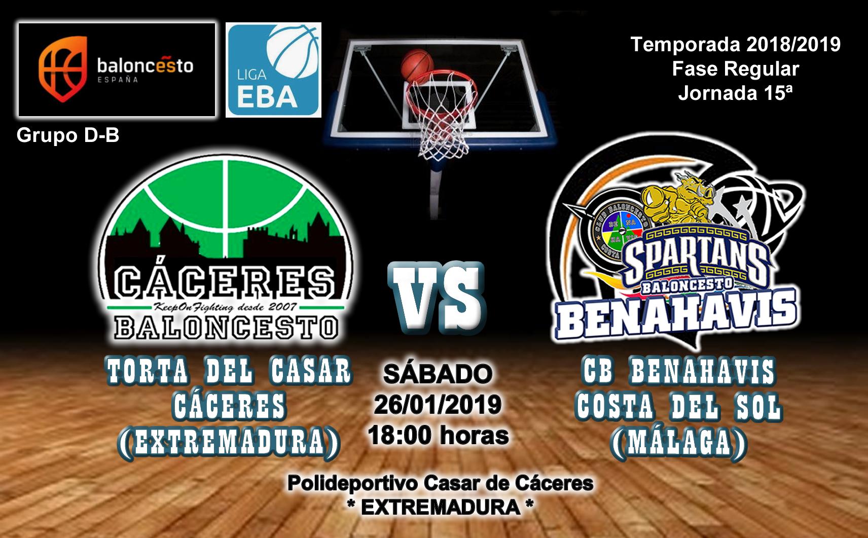 PREVIA | EBA (D-B) 18/19 | J-15ª > Torta del Casar Extremadura vs CB Benahavís Costa del Sol