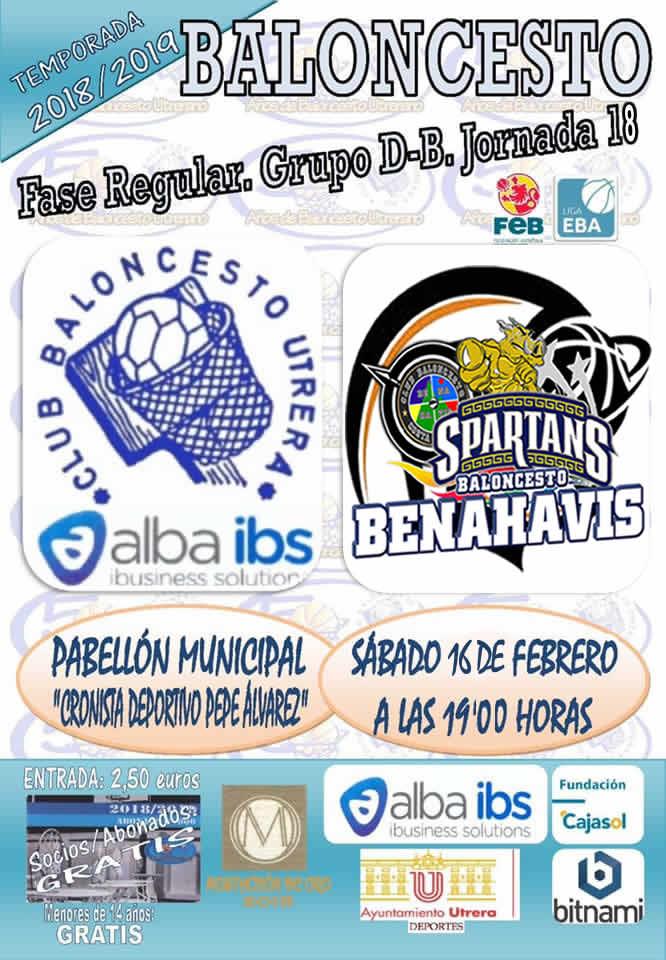EBA D-B | J 18ª . 2018/19 | Alba IBS CB Utrera (Sevilla) vs CB Benahavís Costa del Sol @ PABELLÓN MUNICIPAL CRONISTA DEPORTIVO PEPE ÁLVAREZ - UTRERA