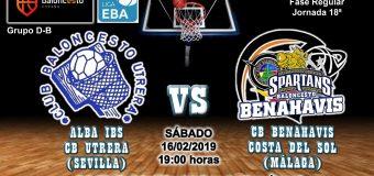 PREVIA | EBA (D-B) 18/19 | J-18ª > Alba IBS CB Utrera (Sevilla) vs CB Benahavís Costa del Sol