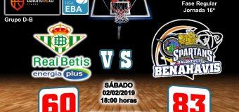 CRÓNICA   EBA (D-B) 18/19   J-16ª > Real Betis Enegía Plus vs CB Benahavís Costa del Sol