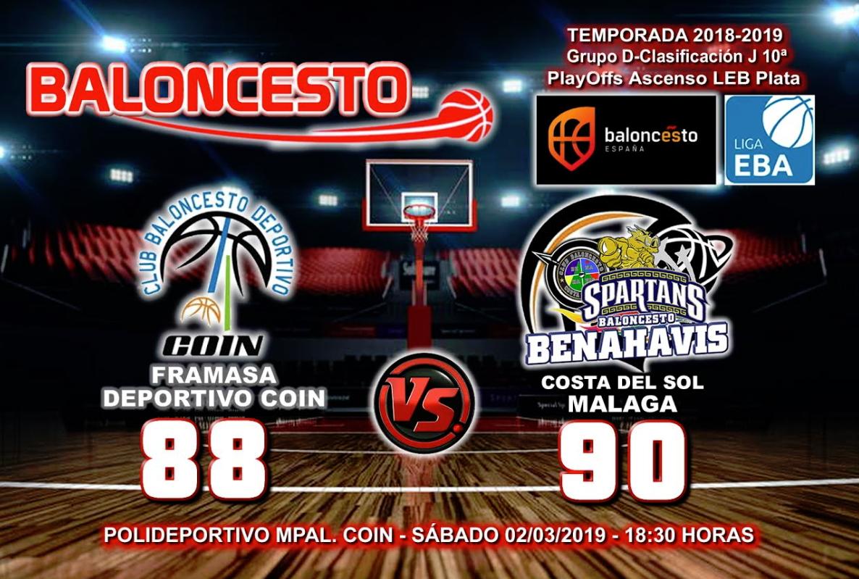 CRÓNICA EBA D 18/19> PlayOffs Ascenso Leb Plata | J-10ª > Framasa Deportivo Coin vs CB Benahavís Costa del Sol