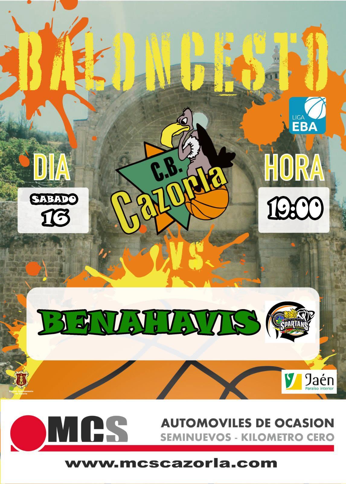 EBA D-Clasificación | J 12ª . 2018/19 | CB Cazorla Jaén Paraiso Interior vs CB Benahavís Costa del Sol @ Pabellón Municipal de  Cazorla (Jaén)