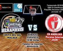 PREVIA EBA D 18/19> PlayOffs Ascenso Leb Plata | J-13ª > CB Benahavís Costa del Sol vs Jaén Paraiso Interior CB Andujar