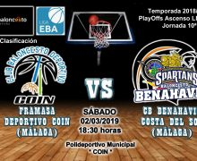 PREVIA EBA D 18/19> PlayOffs Ascenso Leb Plata | J-10ª > Framasa Deportivo Coin vs CB Benahavís Costa del Sol