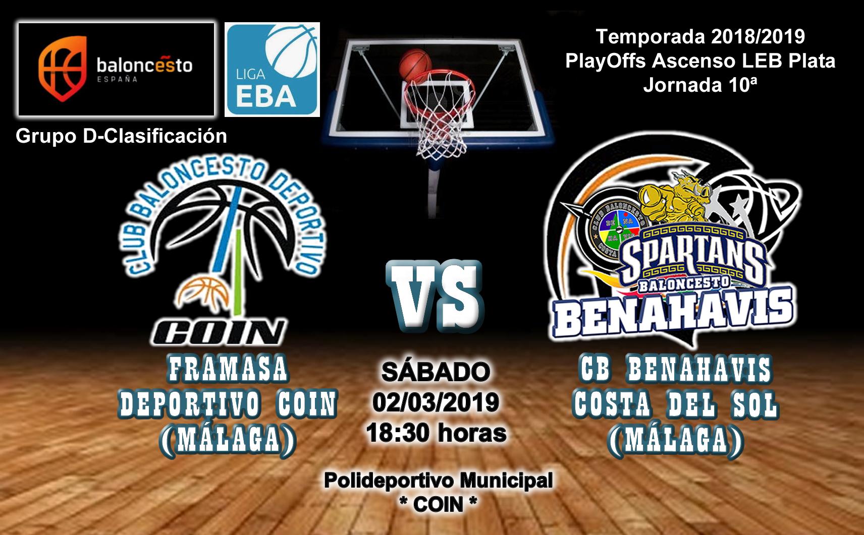 PREVIA EBA D 18/19> PlayOffs Ascenso Leb Plata   J-10ª > Framasa Deportivo Coin vs CB Benahavís Costa del Sol