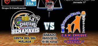 PREVIA EBA D 18/19> PlayOffs Ascenso Leb Plata | J-11ª > CB Benahavís Costa del Sol vs CAM Enrique Soler (Melilla)