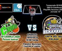 PREVIA EBA D 18/19> PlayOffs Ascenso Leb Plata | J-12ª > CB Cazorla Jaén Paraiso Interior vs CB Benahavís Costa del Sol