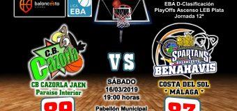 CRÓNICA EBA D 18/19> PlayOffs Ascenso Leb Plata | J-12ª > CB Cazorla Jaén Paraiso Interior vs CB Benahavís Costa del Sol
