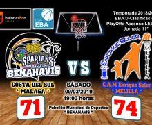 CRÓNICA EBA D 18/19> PlayOffs Ascenso Leb Plata | J-11ª > CB Benahavís Costa del Sol vs CAM Enrique Soler (Melilla)
