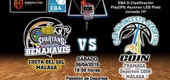 PREVIA EBA D 18/19> PlayOffs Ascenso Leb Plata | J-15ª > CB Benahavís Costa del Sol vs Framasa Deportivo Coín