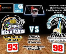 CRÓNICA EBA D 18/19> PlayOffs Ascenso Leb Plata | J-15ª > CB Benahavís Costa del Sol vs Framasa Deportivo Coín