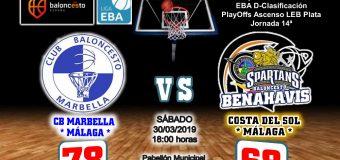 CRÓNICA EBA D 18/19> PlayOffs Ascenso Leb Plata | J-14ª > CB Marbella vs CB Benahavís Costa del Sol