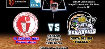 PREVIA EBA D 18/19> PlayOffs Ascenso Leb Plata | J-18ª > CB Andújar Jaén Paraiso Interior