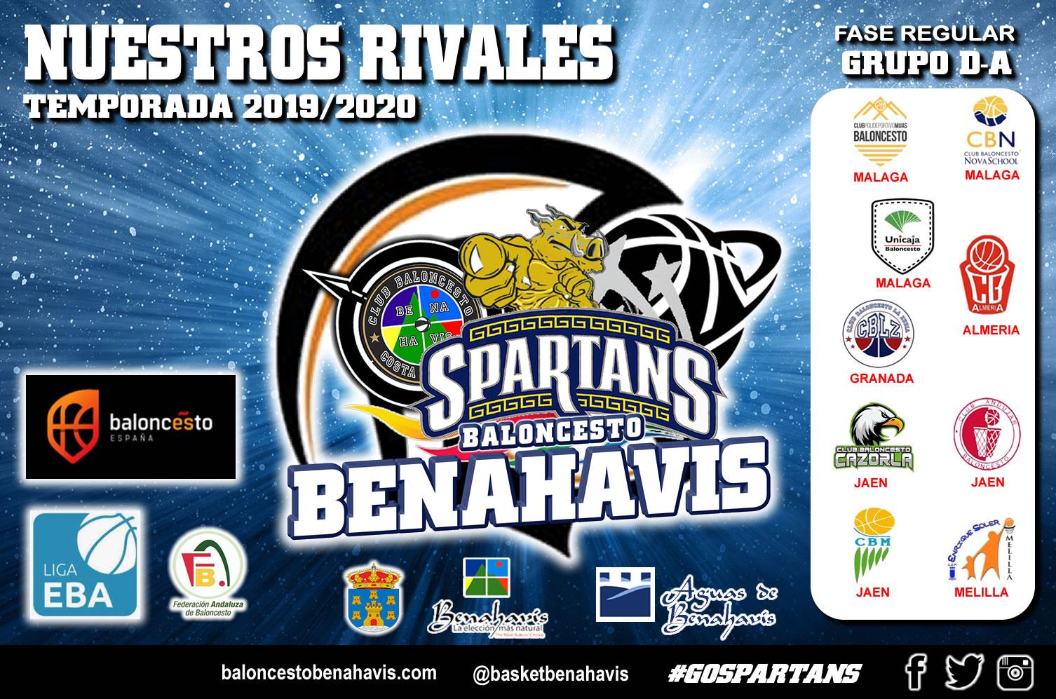 Liga EBA   Grupo D-A   Temp. 2019/20 > Los rivales del CB Benahavís en la Liga Regular