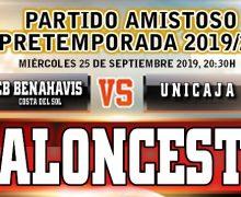 Sexto encuentro de Pretemporada EBA 2019/20 frente al UNICAJA Málaga