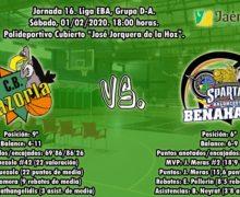 PREVIA | EBA (D-A) 19/20 | J-16ª > Jaén Paraiso Interior CB Cazorla vs CB Benahavís Costa del Sol