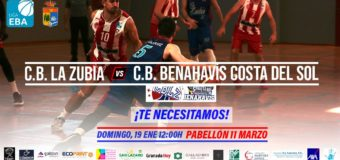 PREVIA | EBA (D-A) 19/20 | J-14ª > CB La Zubia (Granada) vs CB Benahavís Costa del Sol